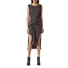 Buy AllSaints Riviera Devo Dress, Washed Black Online at johnlewis.com