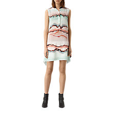 Buy AllSaints Isha Crystal Dress, Pink Online at johnlewis.com