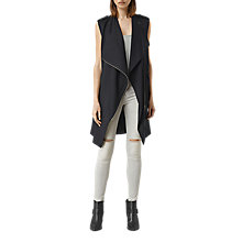 Buy AllSaints Ellaria Sleeveless Coat, Ink Blue Online at johnlewis.com