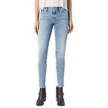 Buy AllSaints Grace Jeans, Pale Blue Online at johnlewis.com