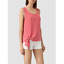 Buy AllSaints Neely Silk Top Online at johnlewis.com