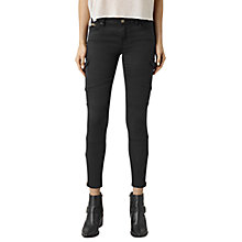Buy AllSaints Gwen Skinny Cargo Jeans, Washed Black Online at johnlewis.com
