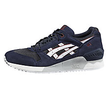 Buy Asics Gel-Respector Men's Trainers, Blue/White Online at johnlewis.com