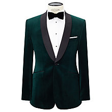 Buy John Lewis Contrast Shawl Lapel Velvet Tailored Dinner Jacket, Emerald Online at johnlewis.com