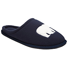 Buy John Lewis Polarbear Mule Slippers, Navy Online at johnlewis.com