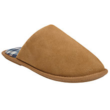 Buy John Lewis Suede Check Lined Mule, Chestnut Online at johnlewis.com