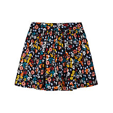 Buy Yumi Girl Rabbits and Robins Print Skirt, Black Multi Online at johnlewis.com
