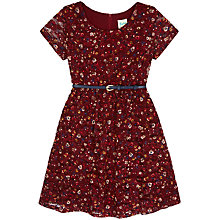 Buy Yumi Girl Ditsy Lace Dress, Berry Online at johnlewis.com