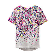 Buy Joules Calla Ditsy Floral Print Top, Silver Scatter Online at johnlewis.com