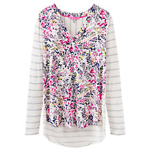 Buy Joules Beatrice Floral Print Jersey Top, Cream Scatter Online at johnlewis.com