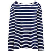 Buy Joules Harbour Stripe Long Sleeve Jersey Top, French Navy Stripe Online at johnlewis.com