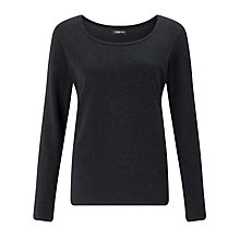 Buy Crea Concept Long Sleeve Jersey Top, Charcoal Grey Marl Online at johnlewis.com