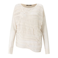 Buy Crea Concept Textured Jumper, Cream Online at johnlewis.com