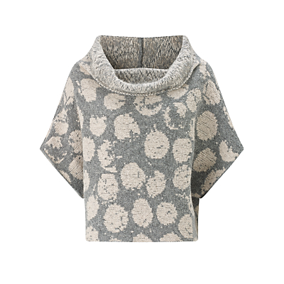 Crea Concept Spotted Wool-Blend Jumper, Stone/Grey
