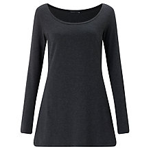 Buy Crea Concept Longline Jersey Top, Charcoal Grey Marl Online at johnlewis.com