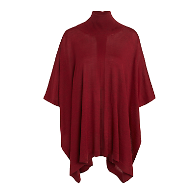 Crea Concept Roll Neck Poncho, Bordeaux