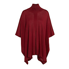 Buy Crea Concept Roll Neck Poncho, Bordeaux Online at johnlewis.com
