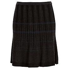 Buy Max Studio Knitted Skirt, Black/Charcoal Online at johnlewis.com