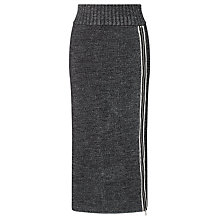 Buy Crea Concept Textured Knit Zip Detail Skirt, Black/White Online at johnlewis.com