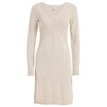 Buy Max Studio Rib Detail Knit Dress, Heather Bone Online at johnlewis.com