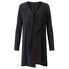 Buy Crea Concept Knit/Woven Long Cardigan, Black/Grey Online at johnlewis.com