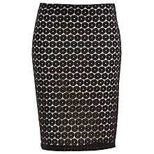 Buy Max Studio Dot Lace Skirt, Black Online at johnlewis.com