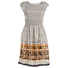 Buy Max Studio Smock Detail Print Dress, Apricot Bone Black Online at johnlewis.com