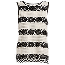 Buy Max Studio Floral Lace Top, Ivory/Black Online at johnlewis.com