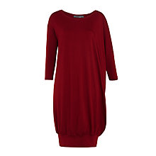 Buy Crea Concept Cuff Hem Jersey Dress, Bordeaux Online at johnlewis.com