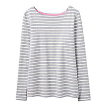 Buy Joules Harbour Stripe Long Sleeve Jersey Top, Grey Stripe Online at johnlewis.com