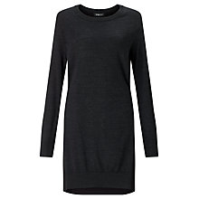 Buy Crea Concept Tie Back Detail Dress, Charcoal Grey Online at johnlewis.com