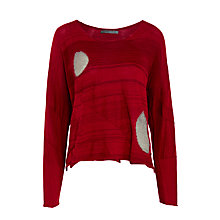 Buy Crea Concept Textured Spot Jumper, Bordeaux Online at johnlewis.com
