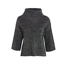 Buy Crea Concept High Neck Textured Jumper, Black/White Online at johnlewis.com