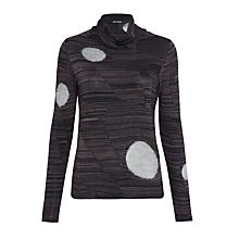 Buy Crea Concept Cowl Neck Textured Spot Jumper, Grey Online at johnlewis.com