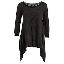 Buy Max Studio Scoop Neck Asymmetric Hem Jumper, Black Online at johnlewis.com