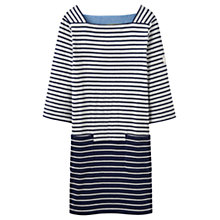 Buy Joules Pier Stripe Jersey Pocket Dress, Grey Navy Stripe Online at johnlewis.com