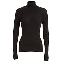 Buy Max Studio Ribbed Roll Neck Jumper, Black Online at johnlewis.com