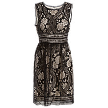 Buy Max Studio Contrast Lace Dress, Black Online at johnlewis.com