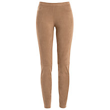 Buy Max Studio Suedette Trousers, Vicuna Online at johnlewis.com