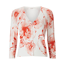Buy Jacques Vert Printed Cardigan, Light Pink Online at johnlewis.com