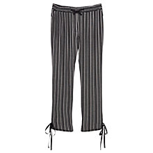Buy Violeta by Mango Textured Baggy Trousers, Black Online at johnlewis.com