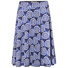 Buy White Stuff Draw Me Jersey Skirt, Bluebrry Blue Online at johnlewis.com