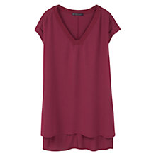 Buy Violeta by Mango Side Slit T-Shirt, Dark Red Online at johnlewis.com