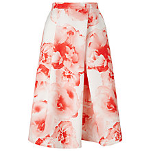 Buy Jacques Vert Printed Skirt, Pink Online at johnlewis.com
