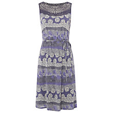 Buy White Stuff Short Etch Jersey Dress, Illustrator Blue Online at johnlewis.com
