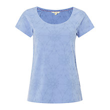 Buy White Stuff Rosanna Embroidered T-Shirt, Blueberry Blue Online at johnlewis.com