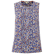 Buy White Stuff Artist Floral Vest, Corn Blue Online at johnlewis.com