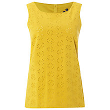 Buy White Stuff Hollow Emb Vest, Nectar Yellow Online at johnlewis.com