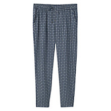 Buy Violeta by Mango Flowy Printed Trousers, Navy Online at johnlewis.com