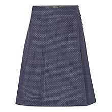 Buy White Stuff Bonded Reversible Skirt, Moon Blue Online at johnlewis.com